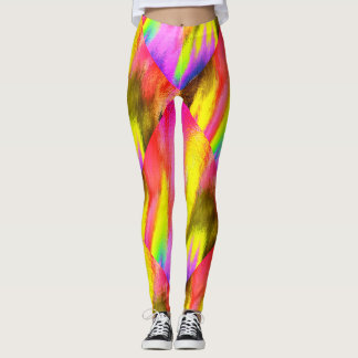 Psychedelic Colourful Pattern Aerobic Workout Leggings