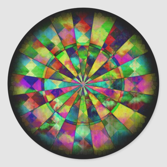 Psychedelic colours by Valxart.com Classic Round Sticker