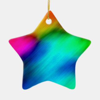 Psychedelic Colours Christmas Tree Ornament