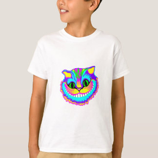 Psychedelic Crazy Smiling Cat T-Shirt