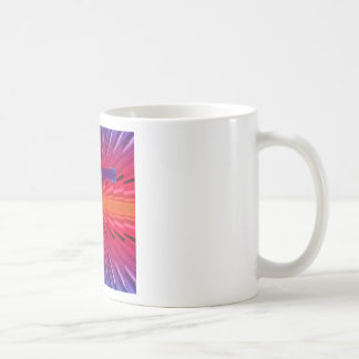 Psychedelic cross coffee mug