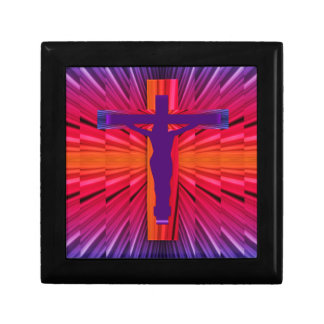 Psychedelic cross gift box