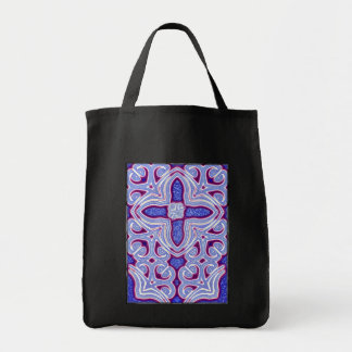 Psychedelic Cross Tote Bag