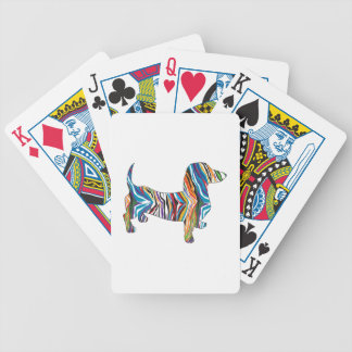 Psychedelic Dachshund Bicycle Playing Cards