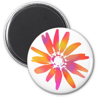 Psychedelic Daisy 6 Cm Round Magnet
