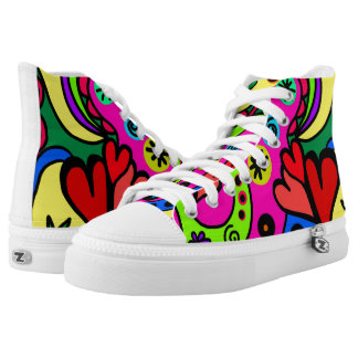 Psychedelic Design High Tops