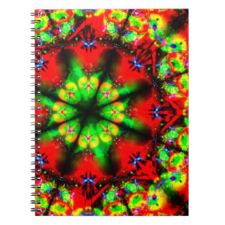 Psychedelic Design Mandala Spiral Notebook