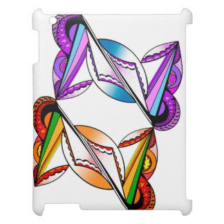 Psychedelic Design on Apple iPad Glossy White Case iPad Cases