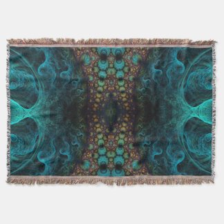 Psychedelic Digital Throw Blanket