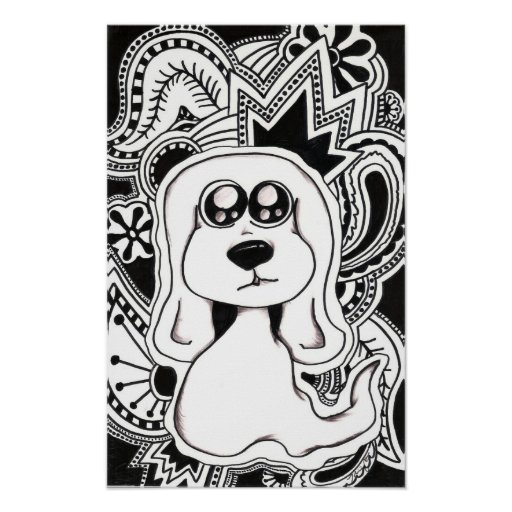 Psychedelic Dog Posters