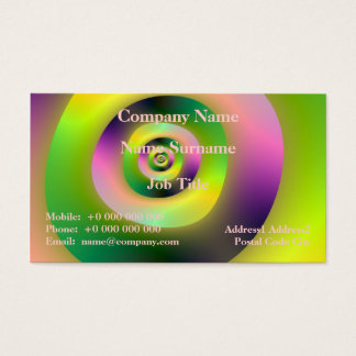 Psychedelic Doughnuts Business Card