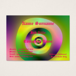 Psychedelic Doughnuts Chubby Business Card