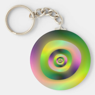 Psychedelic Doughnuts Keychain