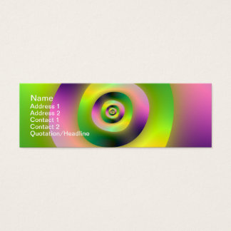 """Psychedelic Doughnuts Skinny, 3"""" x 1"""", 20 pack Mini Business Card"""