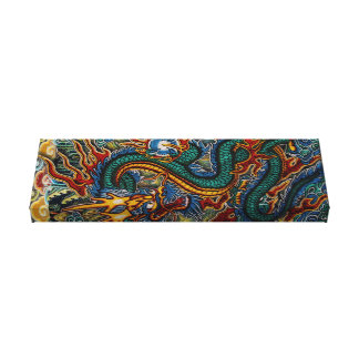 Psychedelic Dragon Canvas Print