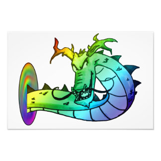 Psychedelic Dragon Photo Print