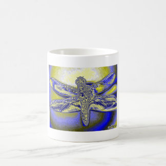 Psychedelic Dragonfly by KLM Morphing Mug