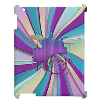 Psychedelic Drummer Music Drums  iPad Case