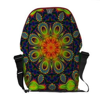 Psychedelic Eastern Mandala Rickshaw Messenger Messenger Bag