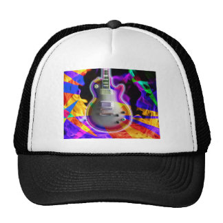 Psychedelic Electric Guitar and Flames Cap