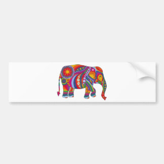 Psychedelic Elephant Bumper Sticker