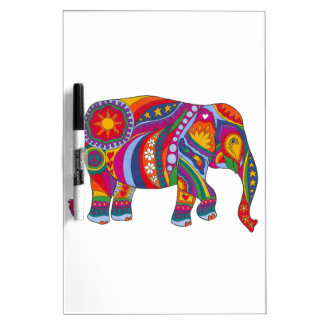 Psychedelic Elephant Dry Erase Board