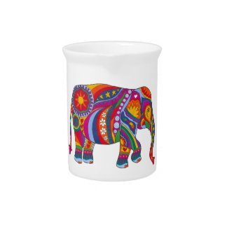 Psychedelic Elephant Pitcher