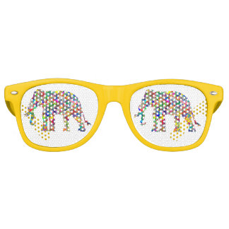 Psychedelic elephant retro sunglasses