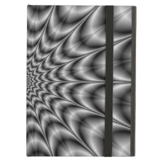 Psychedelic Explosion In Black and White iPad Air Cover