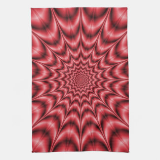 Psychedelic Explosion In Red Kitchen Towels