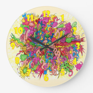Psychedelic Explosion Large Clock