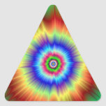 Psychedelic Explosion Triangle Sticker