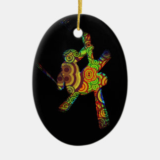 Psychedelic Extreme Ski Christmas Ornament