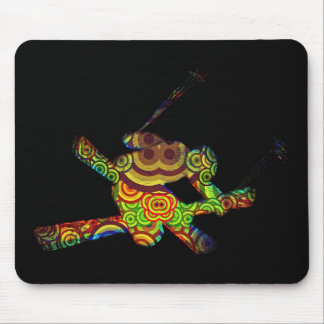 Psychedelic Extreme Ski Mouse Pad