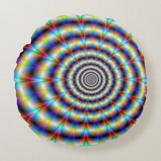 Psychedelic Eye Round Cushion