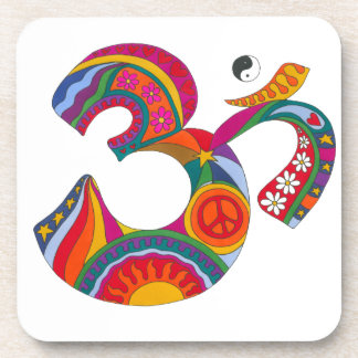 Psychedelic Fat Om Drink Coasters