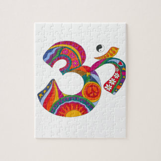 Psychedelic Fat Om Jigsaw Puzzle