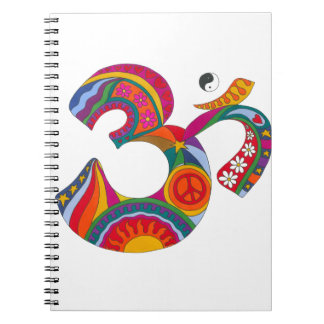 Psychedelic Fat Om Spiral Notebook