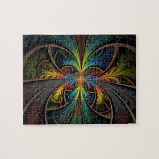Psychedelic Feathers Jigsaw Puzzle
