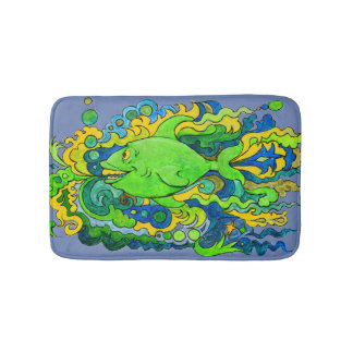 Psychedelic Fish Bath Mat