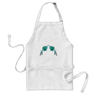 Psychedelic Fish Blue Adult Apron