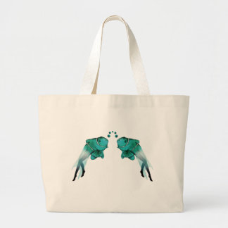 Psychedelic Fish Blue Bag