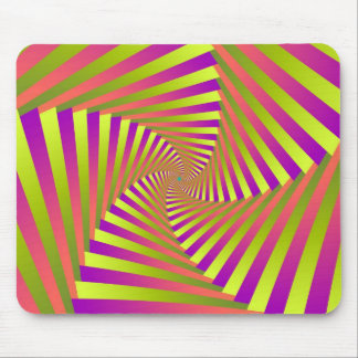 Psychedelic Five Arm Spiral Mousepad