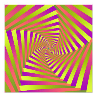 Psychedelic Five Arm Spiral Art Photo