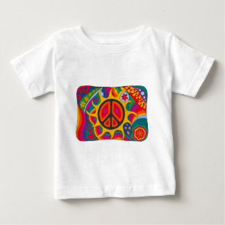 Psychedelic Flaming Peace Baby T-Shirt