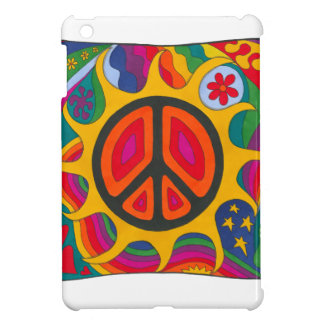 Psychedelic Flaming Peace Case For The iPad Mini