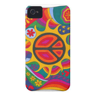 Psychedelic Flaming Peace iPhone 4 Case