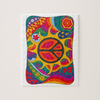 Psychedelic Flaming Peace Puzzle