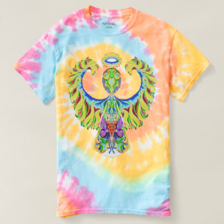 Psychedelic Flash! Angel & Star Tie-Dye T-Shirt