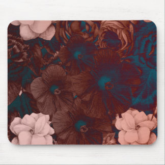 Psychedelic Floral Collage Mouse Pad